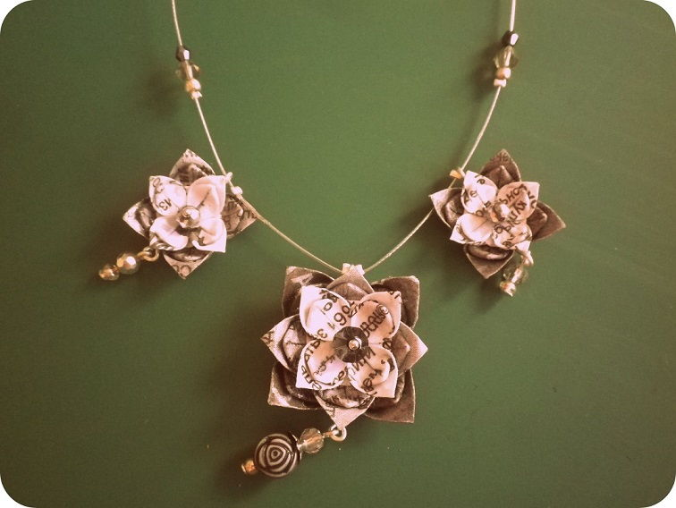 Paper Flower Jewelries