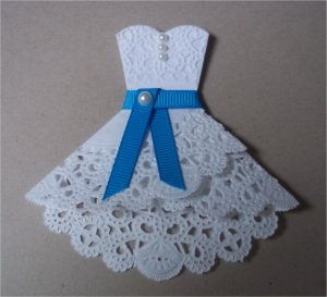 Paper Doily Wedding Dress