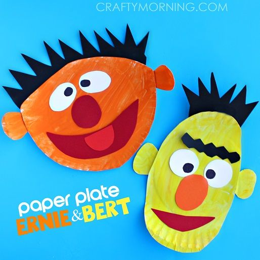 39 Ernie and Bert Paper Plate Craft & 50 Simple Paper Plate Crafts for Every Event \u2013 Page 8 ...