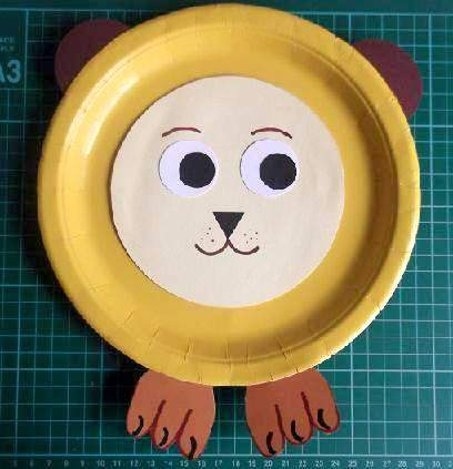Lion This paper plate lion is no scary beast. He is an easy kids crafts project but the mask is a teeny bit harder. (via Kool Kids Crafts) & 50 Simple Paper Plate Crafts for Every Event u2013 Page 5 u2013 ListInspired.com