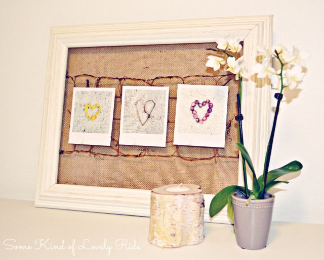 Rustic Frame Picture Display