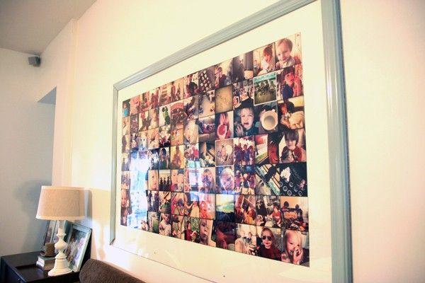 26 gigantic polaroid frame - Diy Picture Frame Collage
