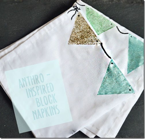 Anthropologie-Inspired Pennant Napkins