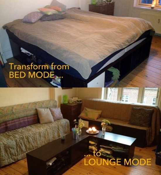 Bulk Storage Bed into a Lounge