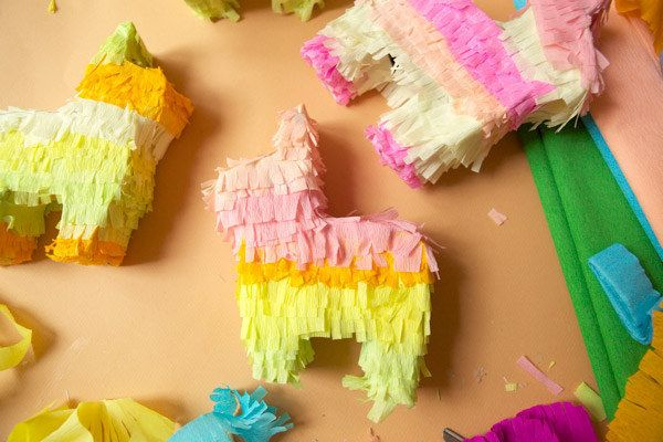 Mini Piñatas out of Cereal Boxes