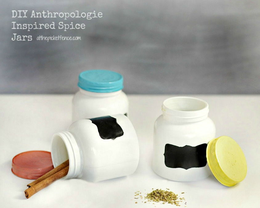 Anthropologie Inspired Spice Jars