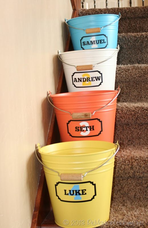 Crap Buckets for all the crap your kids leave out