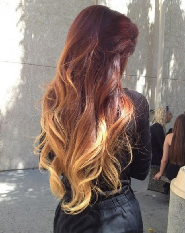 Dramatic Red Ombre