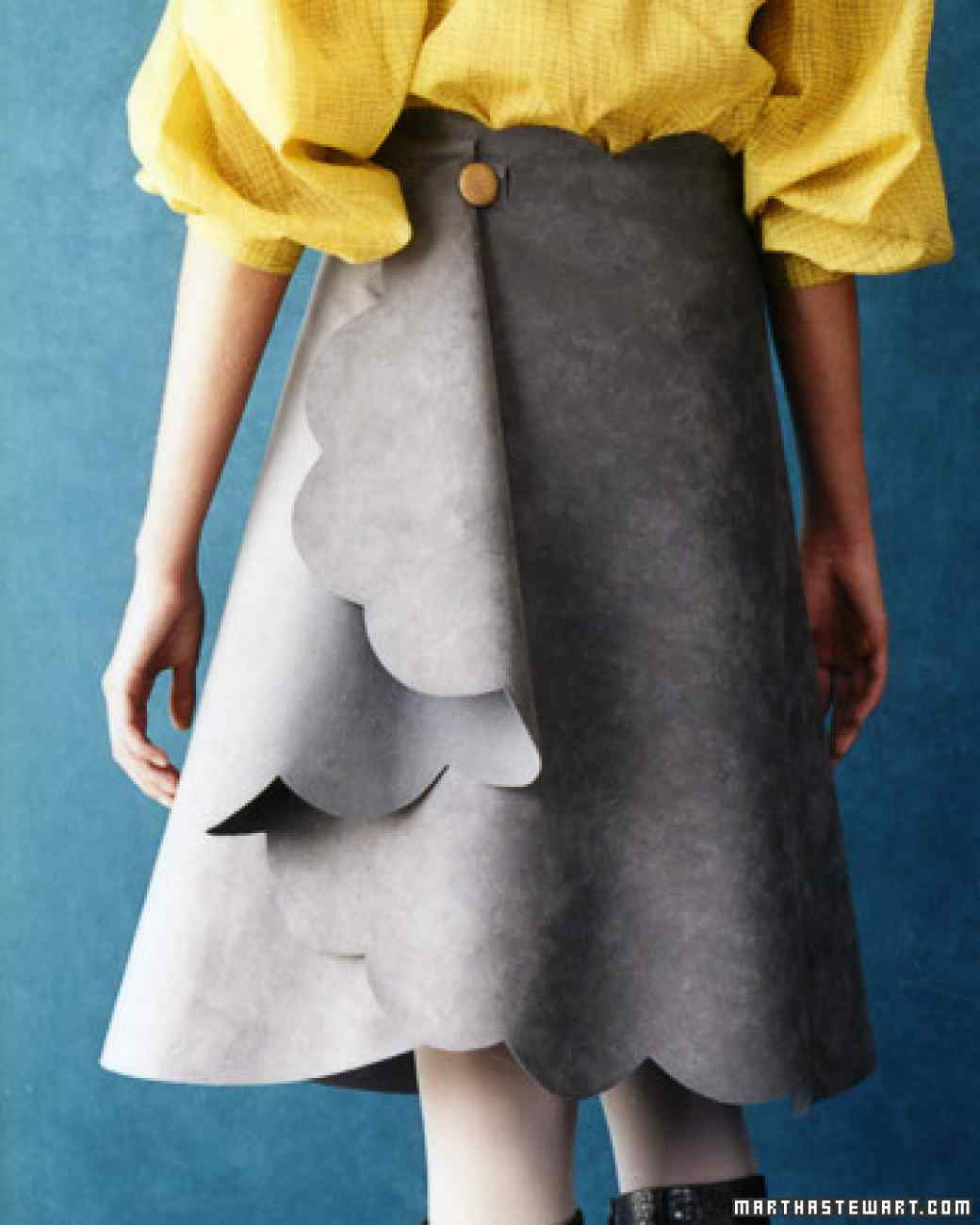 Suede No-Sew Skirt