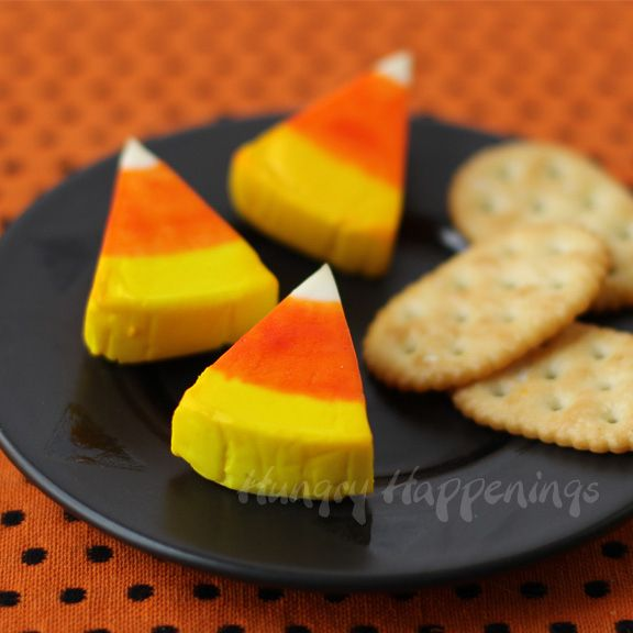 Candy Corn Cheese Wedges