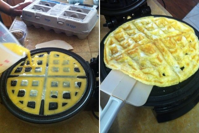 Make Scrambled Eggs With a Waffle Maker