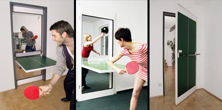 Door That Turns into a Ping-Pong Table