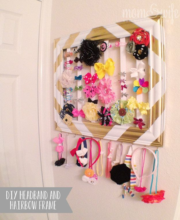 Headband and Hair Bow Holder Frame