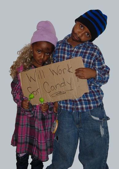 9 Will Work for Candy & 50 Cheap And Easy Last-Minute Halloween Costume Ideas u2013 Page 2 ...