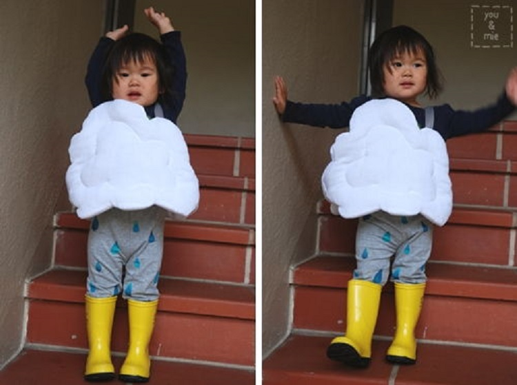 2 Rain Cloud Costume  sc 1 st  ListInspired.com & 50 Cheap And Easy Last-Minute Halloween Costume Ideas u2013 ListInspired.com