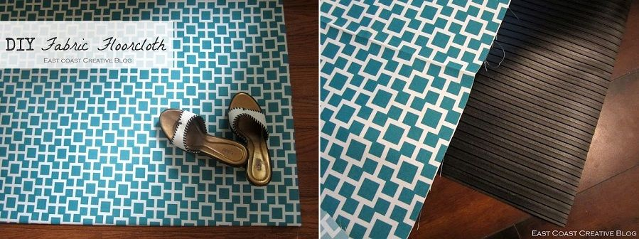 Decorate with Fabric Floor Cloth