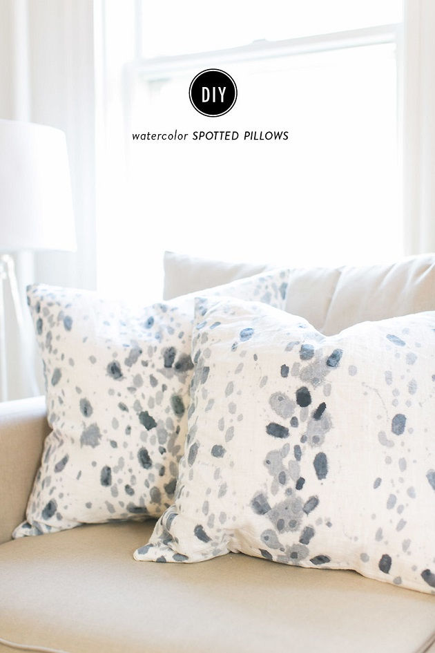 Watercolor Spotted Pillows