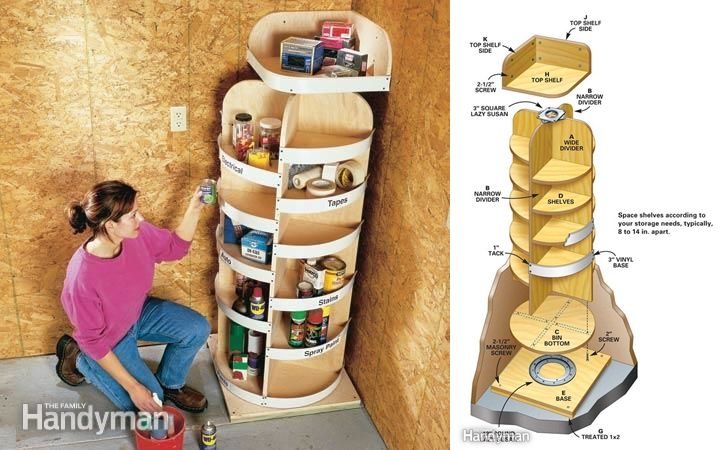 Rotating Corner Shelves