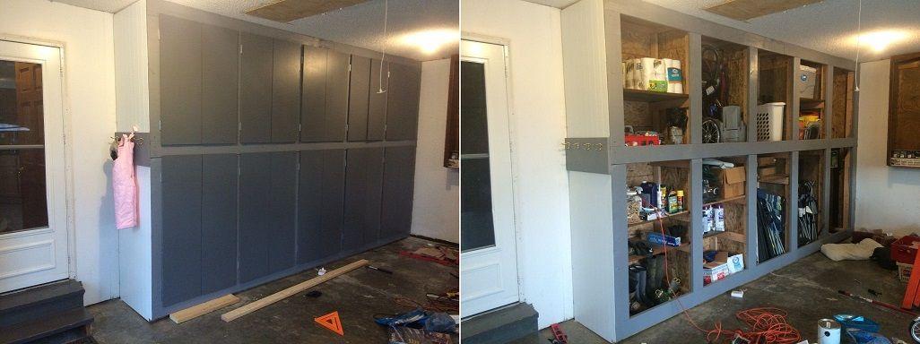 Garage Storage Cabinets & 50 Genius DIY Garage Storage and Organization Project Ideas ...