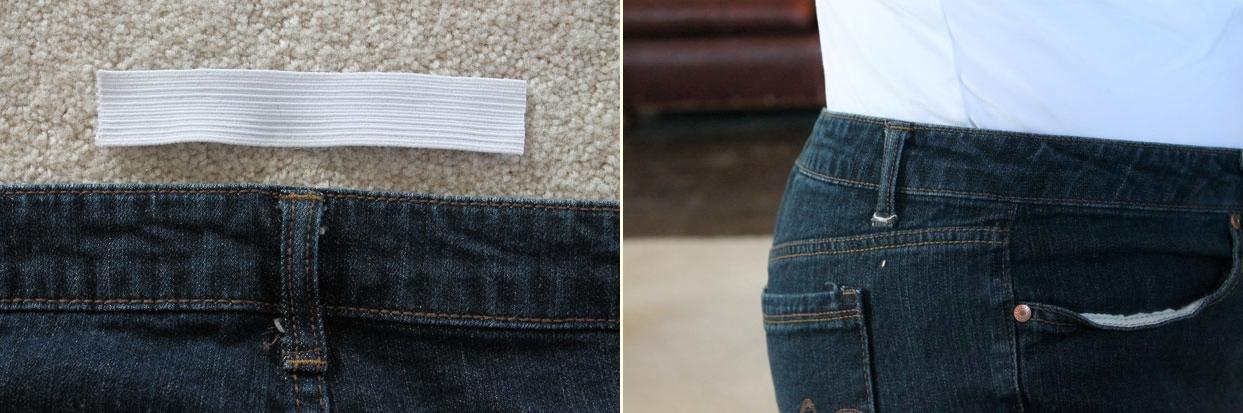 How to Take in the Waist on a Pair of Blue Jeans