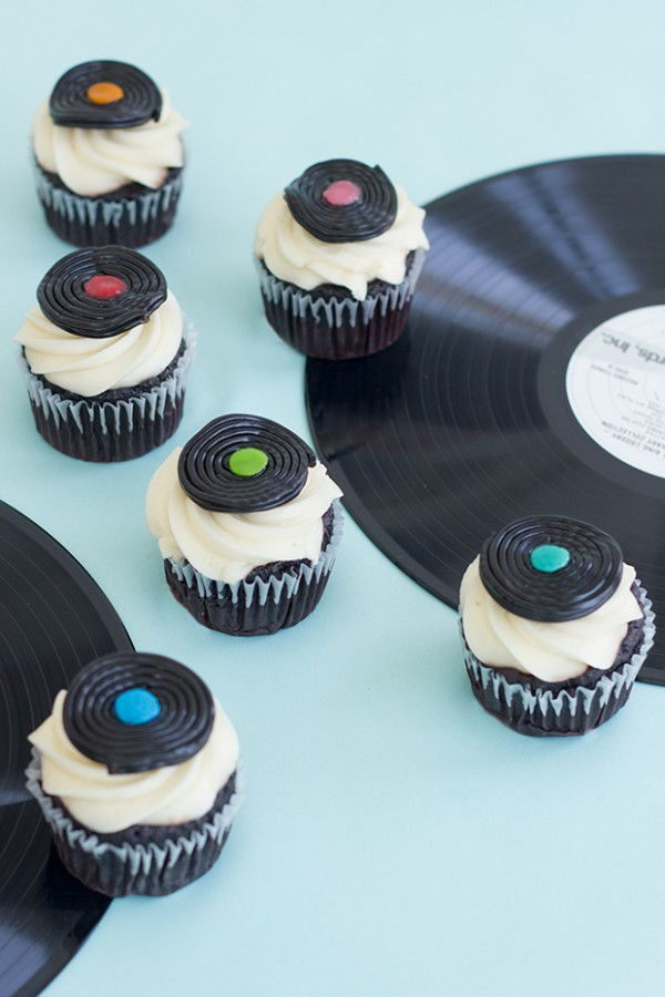 Record Cupcake Toppers
