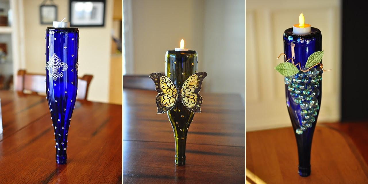 50 awesome recycled glass bottle projects to make page 8 for Wine bottle crafts for sale