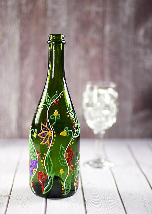 50 awesome recycled glass bottle projects to make page 5 for Things made from wine bottles
