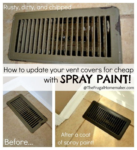 2 Update Your Vent Covers With Spray Paint