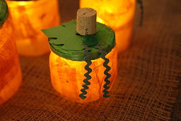 Pumpkin Jar Luminaries