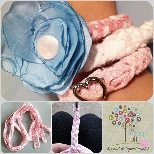 Flirty Fabric Bracelet