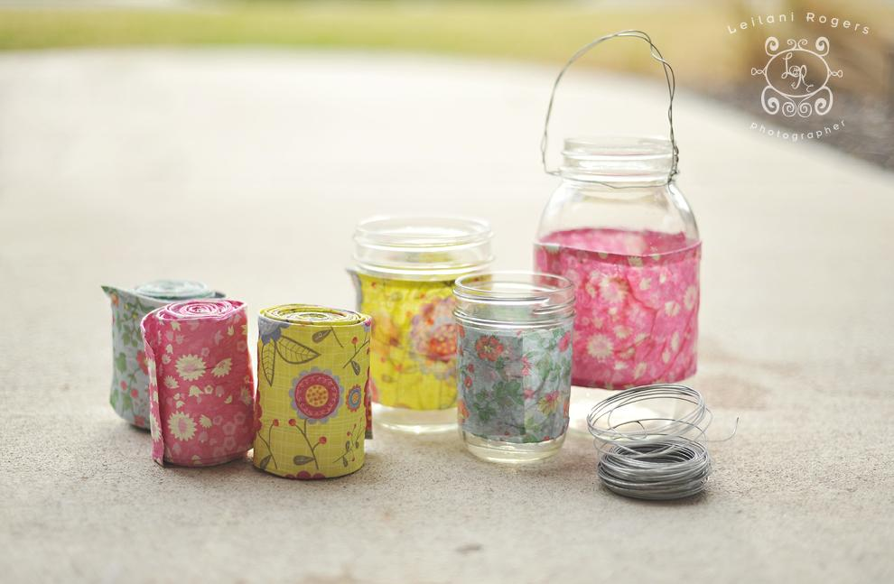 Fabric Decoupage Votives Amazing Design