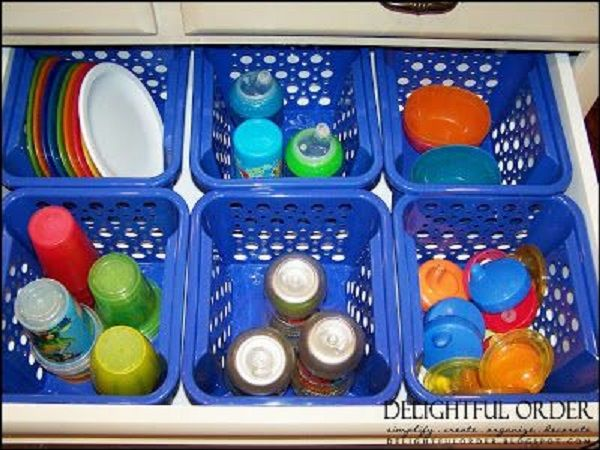 Organizing the Sippy Cup Drawer