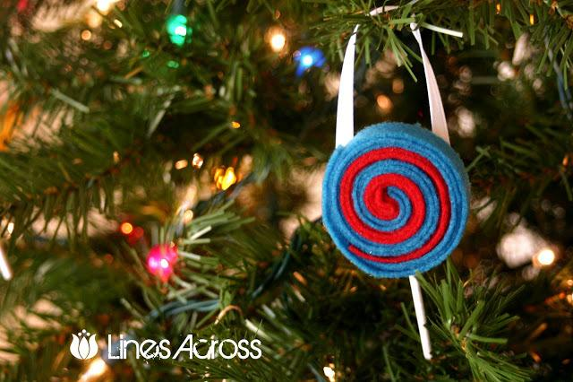 22 felt lollipop ornaments