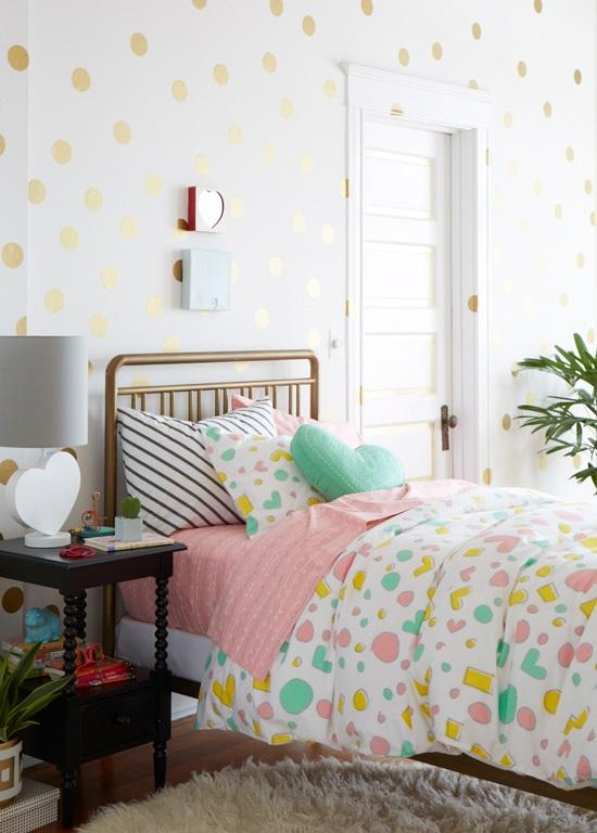 Dotted Walls Room