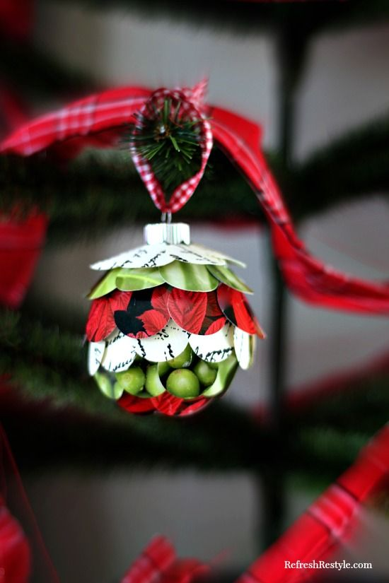 Handmade Paint Chip Ornament