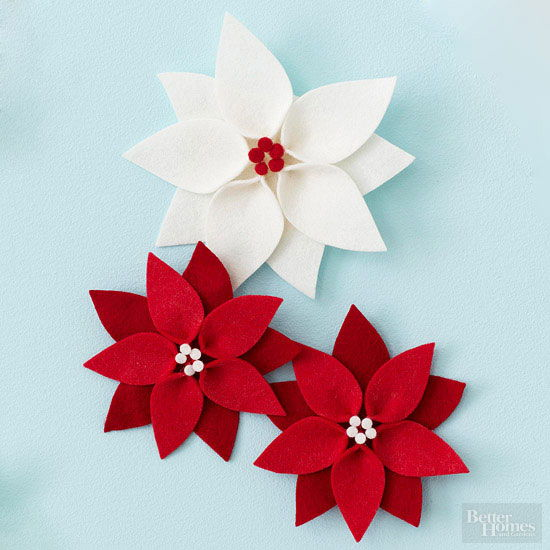 Poinsettia Christmas Ornament