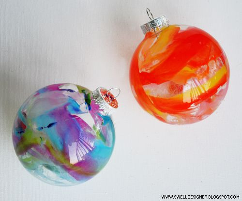 Crayon Drip Ornament
