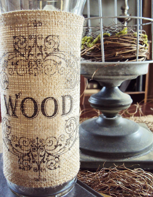 Super Easy Burlap Vase