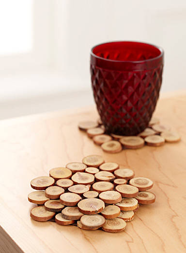 Mini Wood Slices Coasters