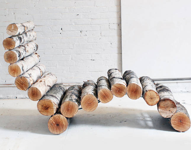Outdoor Furniture Ideas Using Log Slices