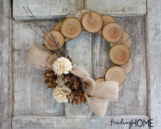Wood and Burlap Natural Wreath