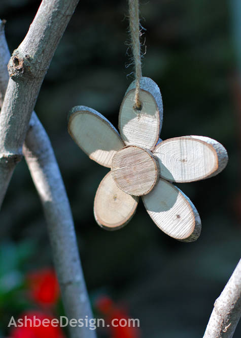Wood Slice Flowers