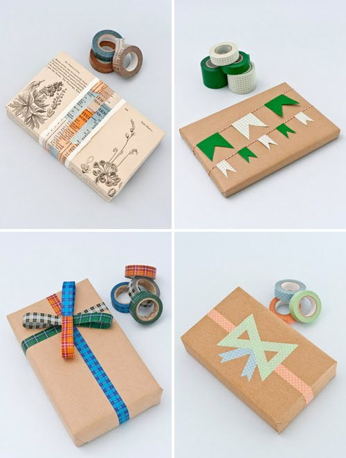 Washi Tape Wrapping Ideas