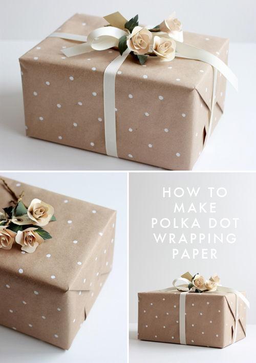 Polka Dot Stamped Paper