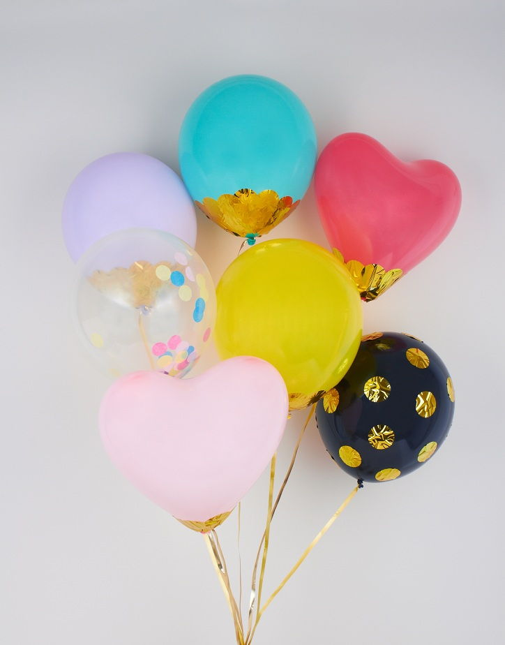 Colorful Confetti Balloons