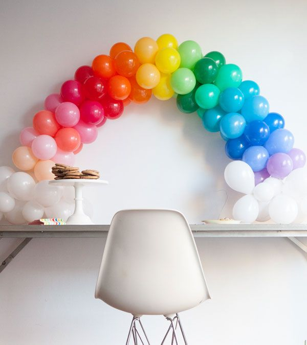 Mini Rainbow Balloon Arch