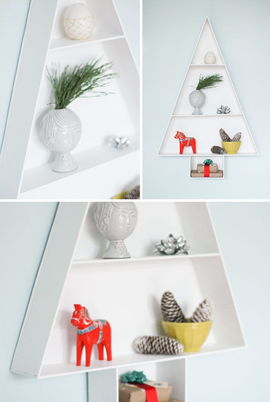 Modern Christmas Tree Display Shelf