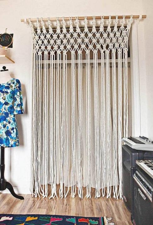 4 make a macram curtain - Diy Decorations