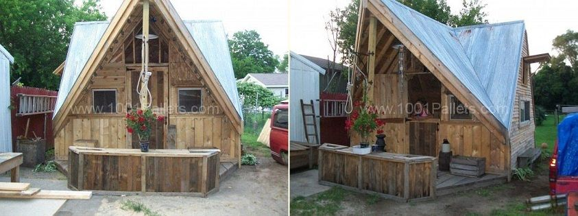 Skid Shack From Reclaimed Wood