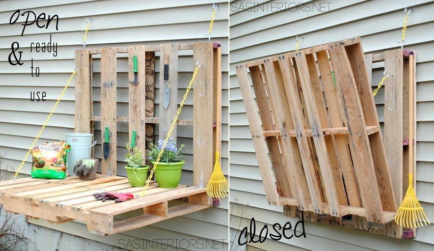 48 pallet gardening table - Garden Ideas Using Wooden Pallets